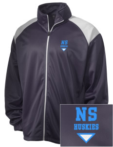 North Star Elementary School Huskies Embroidered Men's Tricot Track Jacket
