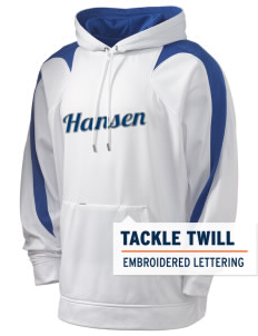 Hansen Elementary School Huskies Holloway Men's Sports Fleece Hooded Sweatshirt with Tackle Twill