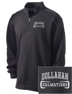 Dollahan Elementary School Dalmations Embroidered Nike Men's Golf Heather Cover Up