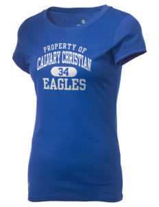 Calvary Christian School Eagles Holloway Women's Groove T-Shirt