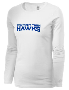 Valley Of Enchantment Elementary School Hawks  Russell Women's Long Sleeve Campus T-Shirt