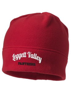 Leggett Valley School Panthers Embroidered Fleece Beanie