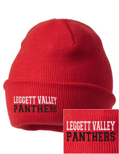 Leggett Valley School Panthers Embroidered Knit Cap