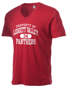 Leggett Valley School Panthers Alternative Men's 3.7 oz Basic V-Neck T-Shirt