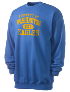 Washington Elementary School Eagles Men's 7.8 oz Lightweight Crewneck Sweatshirt