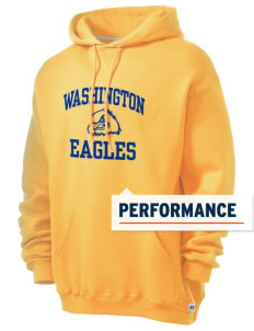 Washington Elementary School Eagles Russell Men's Dri-Power Hooded Sweatshirt