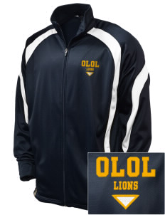 Our Lady Of Lourdes School Lions Embroidered Holloway Men's Tricotex Warm Up Jacket