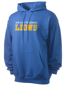 Our Lady Of Lourdes School Lions Men's 7.8 oz Lightweight Hooded Sweatshirt