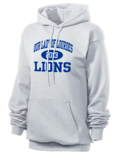 Our Lady Of Lourdes School Lions Unisex 7.8 oz Lightweight Hooded Sweatshirt