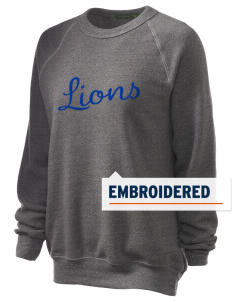 Our Lady Of Lourdes School Lions Embroidered Unisex Alternative Eco-Fleece Raglan Sweatshirt