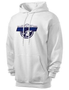 San Antonio De Padua School Blue Jays Men's 7.8 oz Lightweight Hooded Sweatshirt