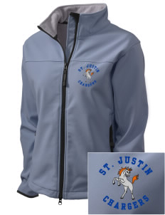 Saint Justin School Chargers Embroidered Women's Glacier Soft Shell Jacket
