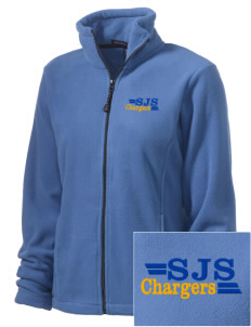 Saint Justin School Chargers Embroidered Women's Wintercept Fleece Full-Zip Jacket