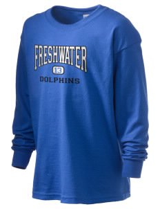 Freshwater Elementary School Dolphins Kid's 6.1 oz Long Sleeve Ultra Cotton T-Shirt