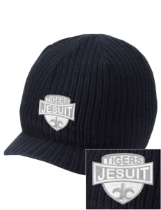 Jesuit High School Tigers Embroidered Knit Beanie with Visor