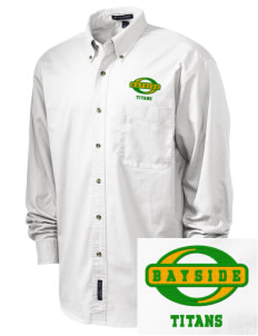 Bayside Community Day School Trojans Embroidered Tall Men's Twill Shirt