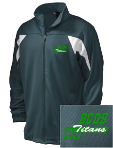 Bayside Community Day School Trojans Embroidered Holloway Men's Full-Zip Track Jacket