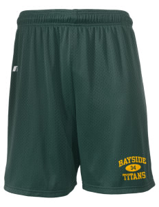 "Bayside Community Day School Trojans  Russell Men's Mesh Shorts, 7"" Inseam"