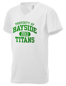 Bayside Community Day School Trojans Kid's V-Neck Jersey T-Shirt