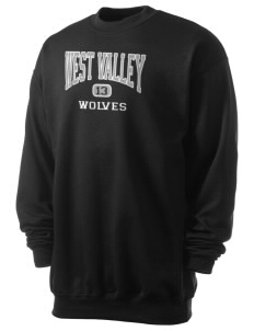 West Valley Middle School Wolves Men's 7.8 oz Lightweight Crewneck Sweatshirt