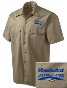 Meadowlark Elementary School Meadowlarks Embroidered Dickies Men's Short-Sleeve Workshirt