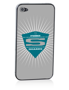 Steinbeck Elementary School Sharks Apple iPhone 4/4S Skin