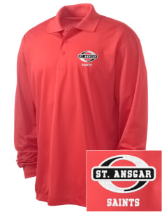 Saint Ansgar Middle School Saints Embroidered Men's Long Sleeve Micropique Sport-Wick Sport Shirt