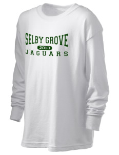 Selby Grove Elementary School Jaguars Kid's 6.1 oz Long Sleeve Ultra Cotton T-Shirt