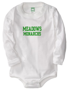 Meadows Elementary School Monarchs  Baby Long Sleeve 1-Piece with Shoulder Snaps