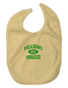 Meadows Elementary School Monarchs Baby Interlock Bib