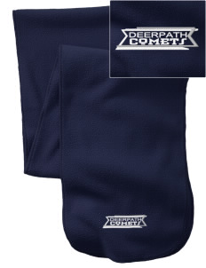 Deerpath Elementary School Comets  Embroidered Extra Long Fleece Scarf