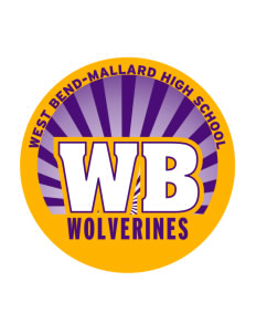 West Bend-Mallard High School Wolverines Sticker