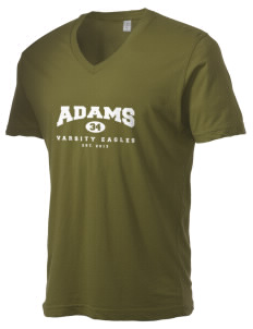 Adams Elementary School Eagles Alternative Men's 3.7 oz Basic V-Neck T-Shirt