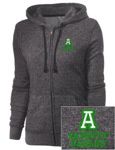 Adams Elementary School Eagles Embroidered Women's Marled Full-Zip Hooded Sweatshirt