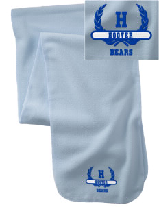 Hoover Elementary School Bears  Embroidered Extra Long Fleece Scarf