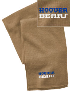 Hoover Elementary School Bears  Embroidered Knitted Scarf
