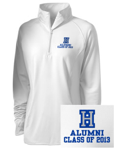 Hoover Elementary School Bears Embroidered Ladies Stretched Half-Zip Pullover