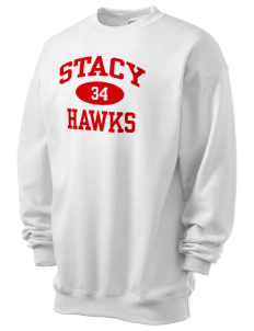 Stacy Middle School Hawks Men's 7.8 oz Lightweight Crewneck Sweatshirt