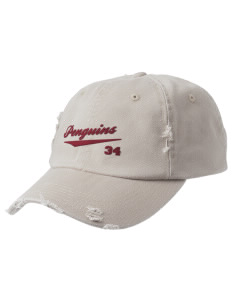Murdock Portal Elementary School Penguins Embroidered Distressed Cap