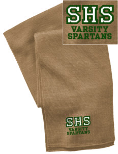 Skyline High School Spartans  Embroidered Knitted Scarf