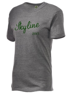 Skyline High School Spartans Embroidered Alternative Unisex Eco Heather T-Shirt