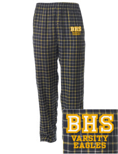 Brock High School Eagles Embroidered Men's Button-Fly Collegiate Flannel Pant