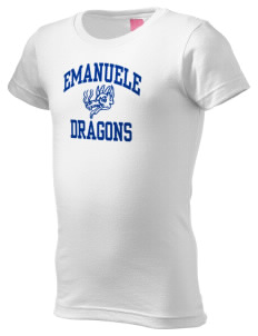 Emanuele Elementary School Dragons  Girl's Fine Jersey Longer Length T-Shirt