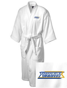 Emanuele Elementary School Dragons Embroidered Terry Velour Robe