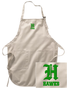 Cedarwood Elementary School Hawks Embroidered Full-Length Apron with Pockets