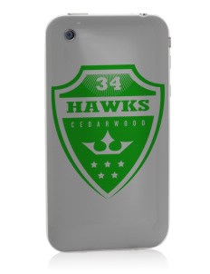 Cedarwood Elementary School Hawks Apple iPhone 3G/ 3GS Skin