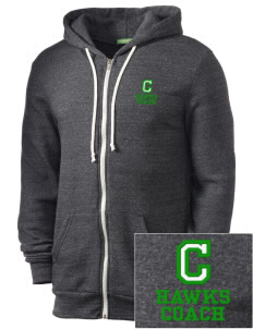 Cedarwood Elementary School Hawks Embroidered Alternative Men's Rocky Zip Hooded Sweatshirt
