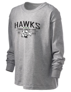 Cedarwood Elementary School Hawks Kid's 6.1 oz Long Sleeve Ultra Cotton T-Shirt