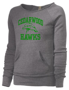 Cedarwood Elementary School Hawks Alternative Women's Maniac Sweatshirt