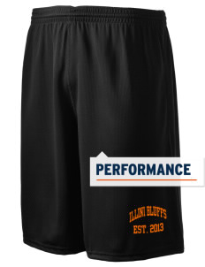 "Illini Bluffs Elementary School Tigers Holloway Men's Speed Shorts, 9"" Inseam"